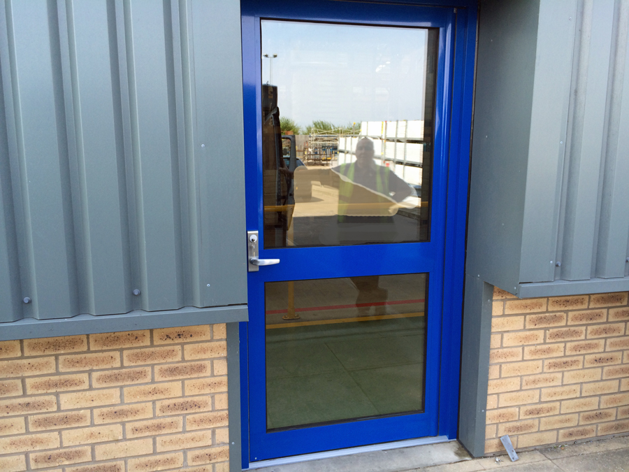 Aluminium fire exit door