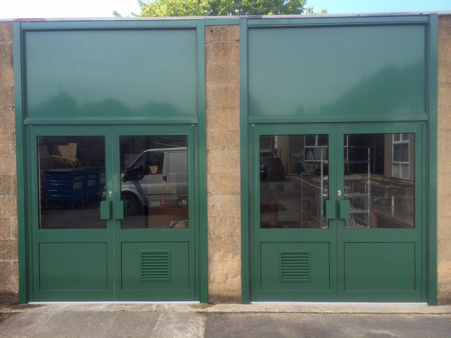 Aluminium double door sets