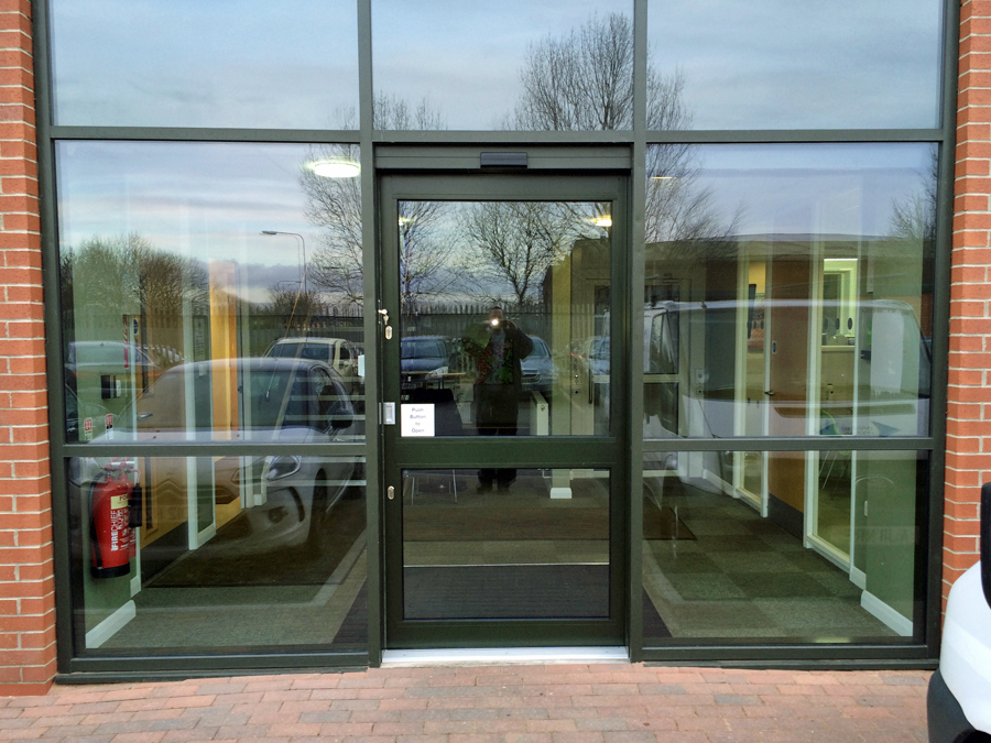 Automatic sliding door conversion