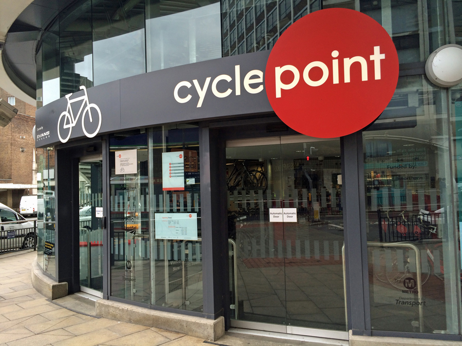 Leeds cycle point automatic doors